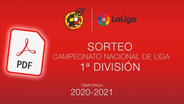 Calendario Liga Pdf 2021 Descarga en PDF el calendario completo de Primera División 2020 2021
